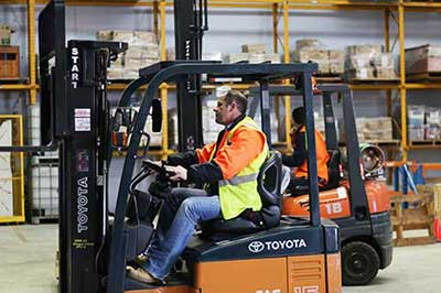 Onsite Forklift Training - Melbourne - Trainix