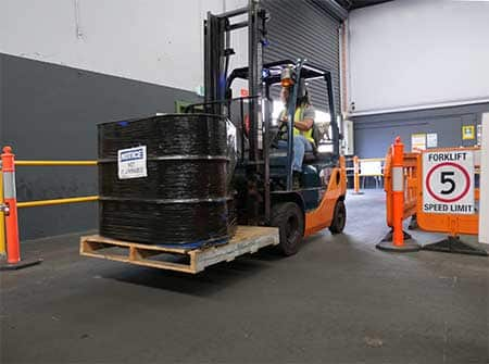 Student at forklift course with Trainix