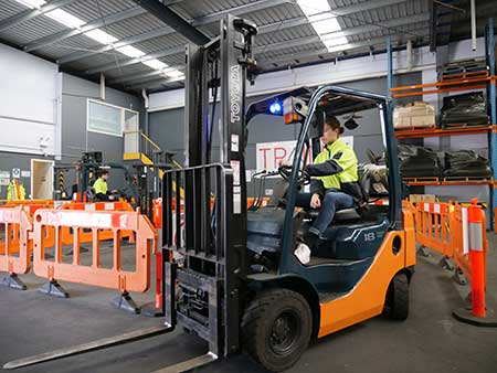 Forklift licence renewal for students at Trainix in Melbourne