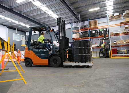 Student forklift training Melbourne with Trainix
